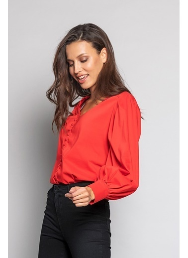 Ashleys Gömlek Kırmızı